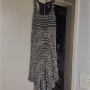 MM Couture Empire Waist Midi Length Train Dress
